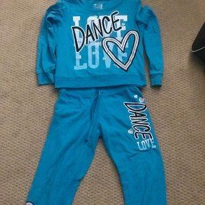 """""""Love dance"""" justice sweatsuit"""